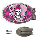 Princess Skull Heart Money Clip (Oval)