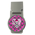 Princess Skull Heart Money Clip (Round)