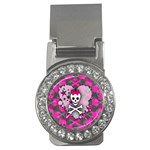 Princess Skull Heart Money Clip (CZ)