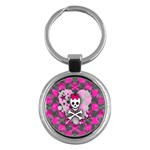 Princess Skull Heart Key Chain (Round)