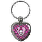 Princess Skull Heart Key Chain (Heart)