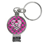 Princess Skull Heart Nail Clippers Key Chain