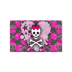 Princess Skull Heart Sticker (Rectangular)