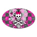 Princess Skull Heart Magnet (Oval)