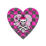 Princess Skull Heart Magnet (Heart)