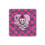 Princess Skull Heart Magnet (Square)
