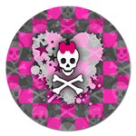 Princess Skull Heart Magnet 5  (Round)