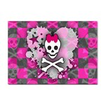 Princess Skull Heart Sticker A4 (10 pack)