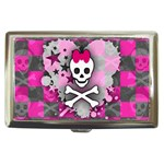 Princess Skull Heart Cigarette Money Case