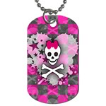 Princess Skull Heart Dog Tag (Two Sides)