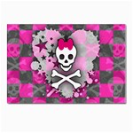 Princess Skull Heart Postcard 4 x 6  (Pkg of 10)