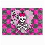 Princess Skull Heart Postcard 5  x 7