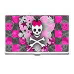 Princess Skull Heart Business Card Holder
