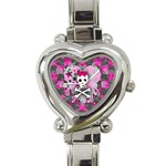 Princess Skull Heart Heart Italian Charm Watch