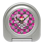 Princess Skull Heart Travel Alarm Clock