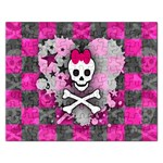 Princess Skull Heart Jigsaw Puzzle (Rectangular)