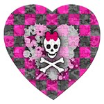 Princess Skull Heart Jigsaw Puzzle (Heart)