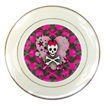 Princess Skull Heart Porcelain Plate