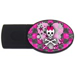 Princess Skull Heart USB Flash Drive Oval (4 GB)