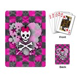 Princess Skull Heart Playing Cards Single Design