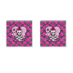 Princess Skull Heart Cufflinks (Square)