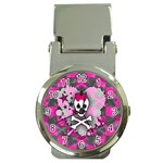 Princess Skull Heart Money Clip Watch