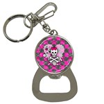 Princess Skull Heart Bottle Opener Key Chain