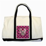 Princess Skull Heart Two Tone Tote Bag