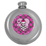 Princess Skull Heart Hip Flask (5 oz)