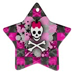 Princess Skull Heart Star Ornament (Two Sides)