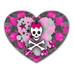 Princess Skull Heart Mousepad (Heart)