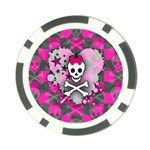Princess Skull Heart Poker Chip Card Guard