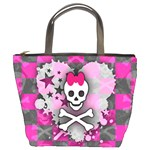 Princess Skull Heart Bucket Bag