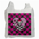 Princess Skull Heart Recycle Bag (Two Side)