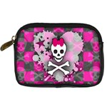 Princess Skull Heart Digital Camera Leather Case