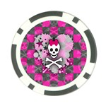 Princess Skull Heart Poker Chip Card Guard (10 pack)