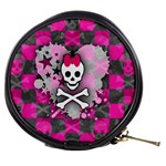 Princess Skull Heart Mini Makeup Bag