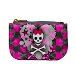 Princess Skull Heart Mini Coin Purse