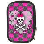 Princess Skull Heart Compact Camera Leather Case