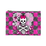 Princess Skull Heart Cosmetic Bag (Large)