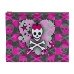 Princess Skull Heart Cosmetic Bag (XL)