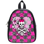Princess Skull Heart School Bag (Small)