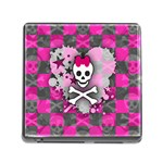 Princess Skull Heart Memory Card Reader with Storage (Square)