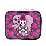 Princess Skull Heart Mini Toiletries Bag (One Side)