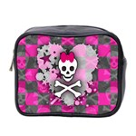 Princess Skull Heart Mini Toiletries Bag (Two Sides)
