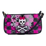 Princess Skull Heart Shoulder Clutch Bag
