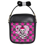 Princess Skull Heart Girls Sling Bag