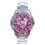 Princess Skull Heart Stainless Steel Analogue Men's Watch