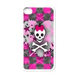 Princess Skull Heart Apple iPhone 4 Case (White)