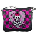 Princess Skull Heart Messenger Bag